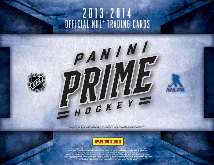 13-14 Panini Prime Hockey Product Page 1