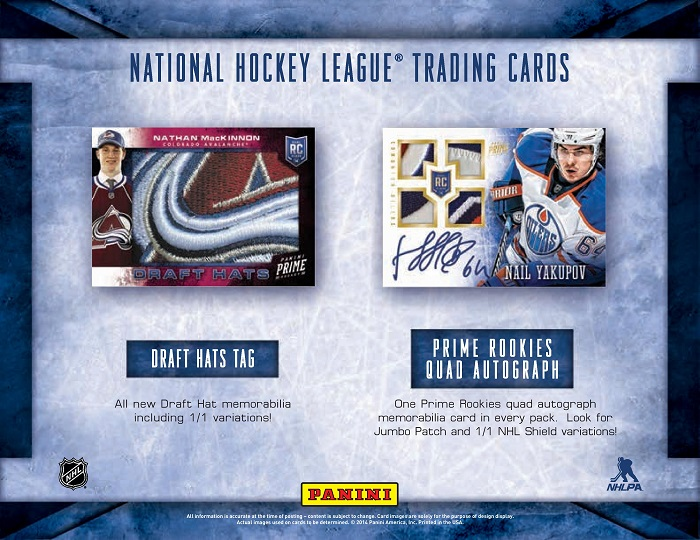13-14 Panini Prime Hockey Product Page 2