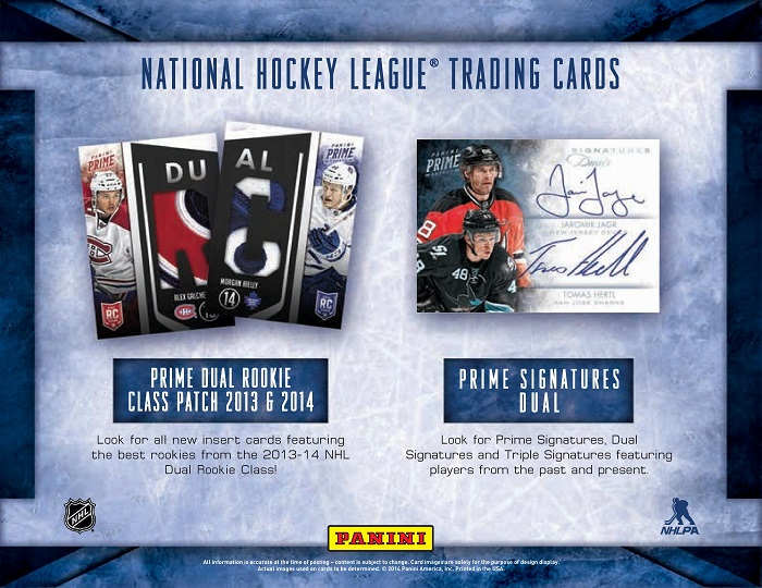 13-14 Panini Prime Hockey Product Page 3