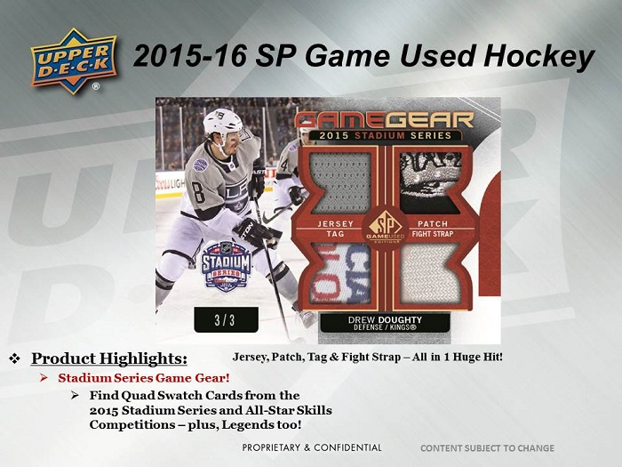 15-16 Upper Deck SP Game Used Hockey Product Image Page 4