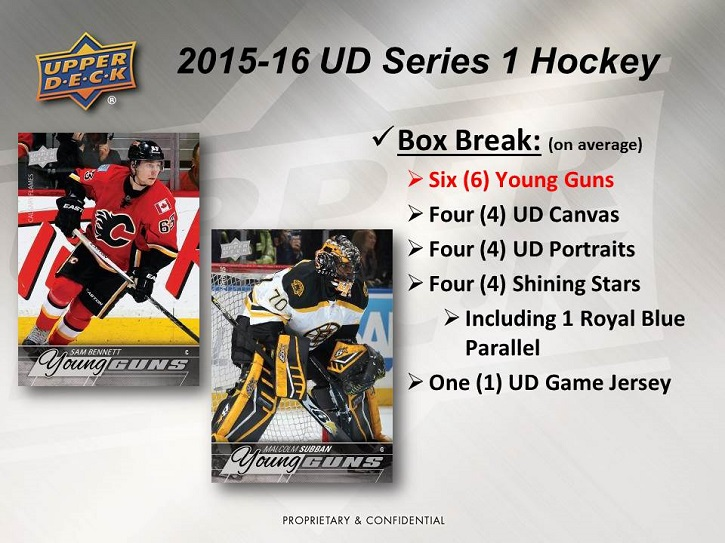 15-16 Upper Deck Series 1 Hockey Product Image Page 2