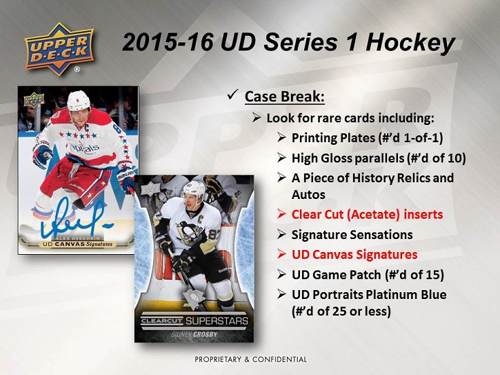 15-16 Upper Deck Series 1 Hockey Product Image Page 3