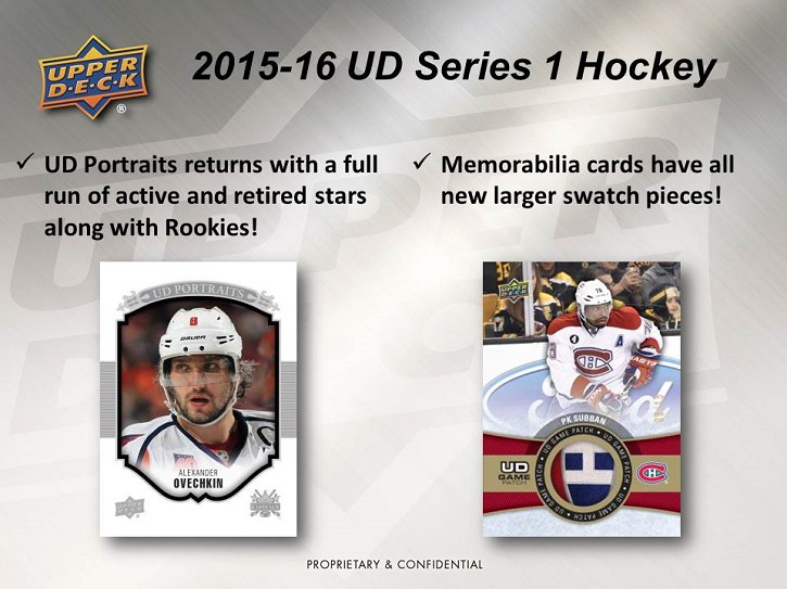 15-16 Upper Deck Series 1 Hockey Product Image Page 4