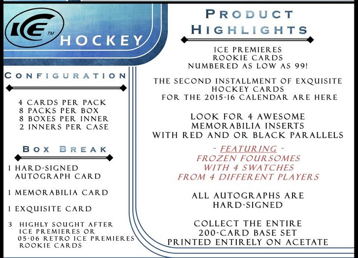 15-16 Upper Deck Ice Hockey Product Image Page 4