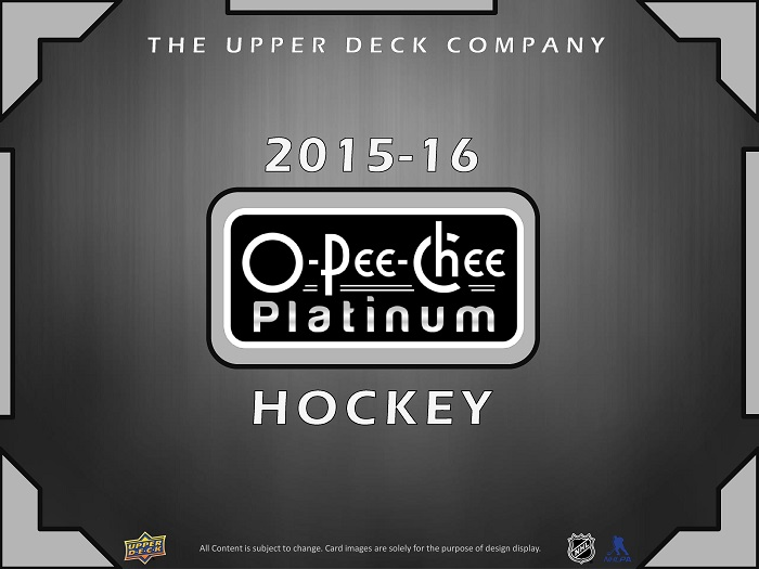15-16 Upper Deck OPC Platinum Hockey Product Image Page 1