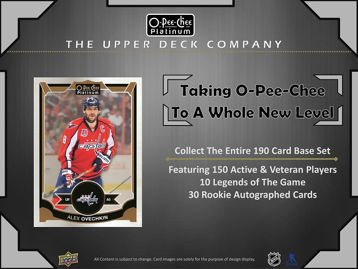 15-16 Upper Deck OPC Platinum Hockey Product Image Page 3