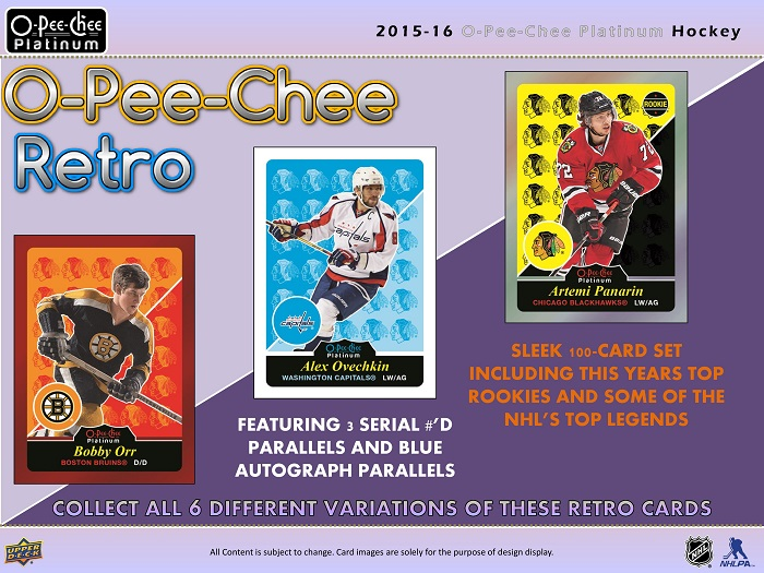 15-16 Upper Deck OPC Platinum Hockey Product Image Page 7
