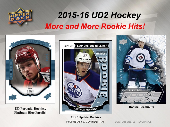 2015-16 Upper Deck Series 2 Hockey
