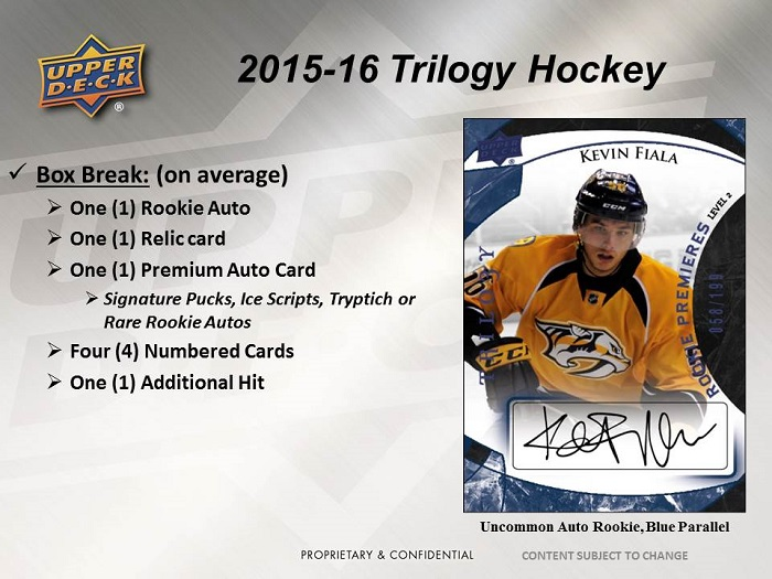 15-15 Upper Deck Trilogy Hockey Product Image Page 2