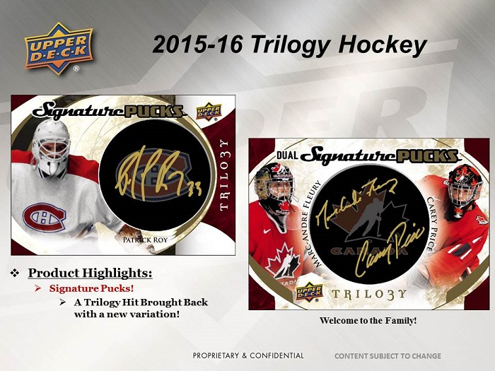 15-15 Upper Deck Trilogy Hockey Product Image Page 3