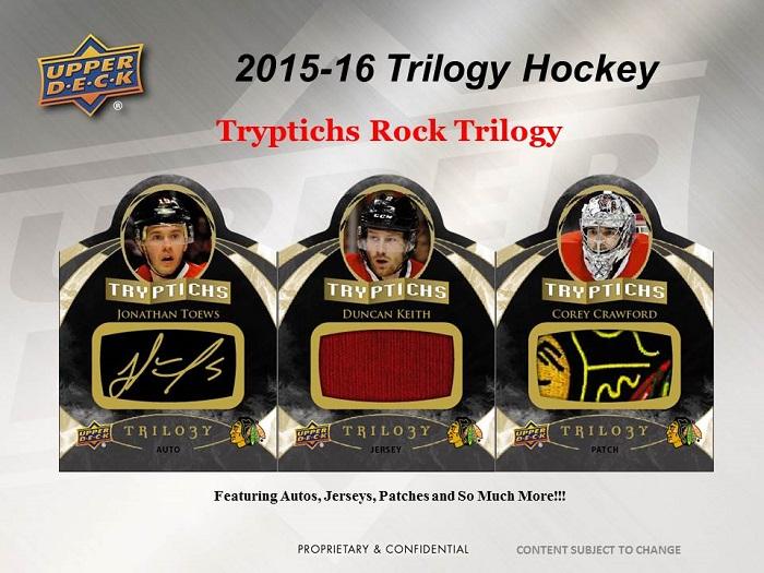 2015-15 Upper Deck Trilogy Hockey - Tryptichs Rock Trilogy
