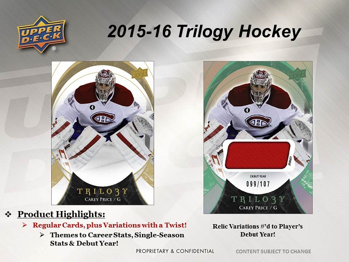 15-15 Upper Deck Trilogy Hockey Product Image Page 5