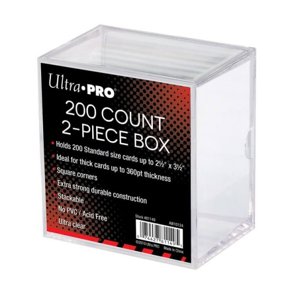 Ultra Pro 200 Count Two Piece Storage Box