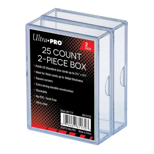 Ultra Pro 25 Count Two Piece Storage Box