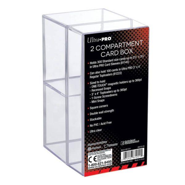 Ultra Pro 2 Piece Clear Card Storage Box