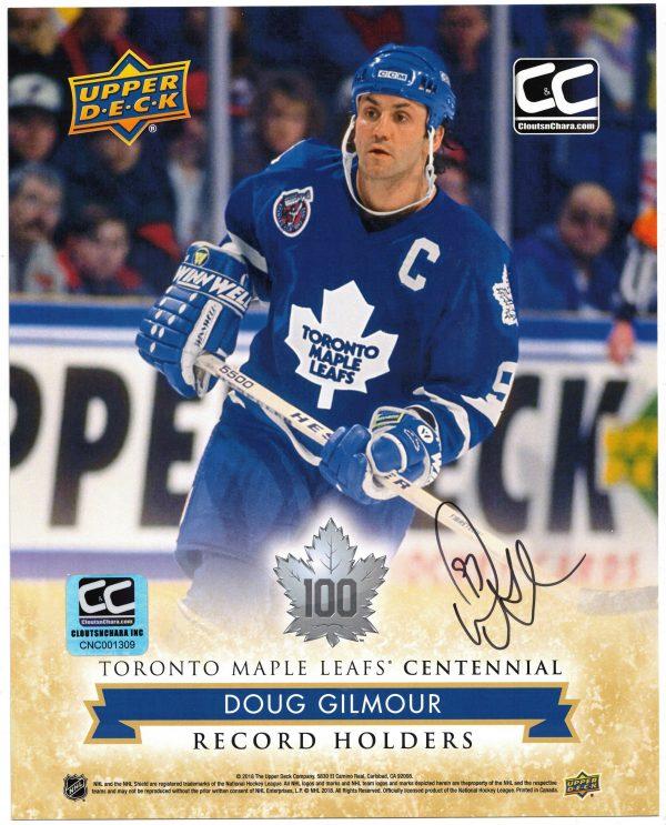 Doug Gilmour Autographed 8 x 10 Toronto Maple Leafs Centennial