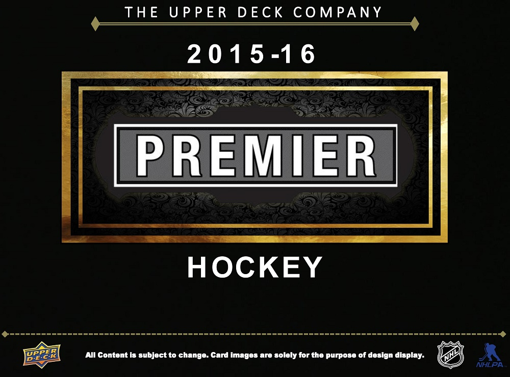 15-16 Upper Deck Premier Hockey Product Image Page 1