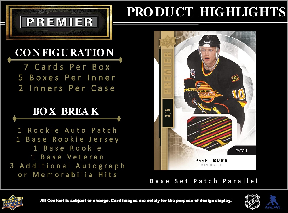 15-16 Upper Deck Premier Hockey Product Image Page 2
