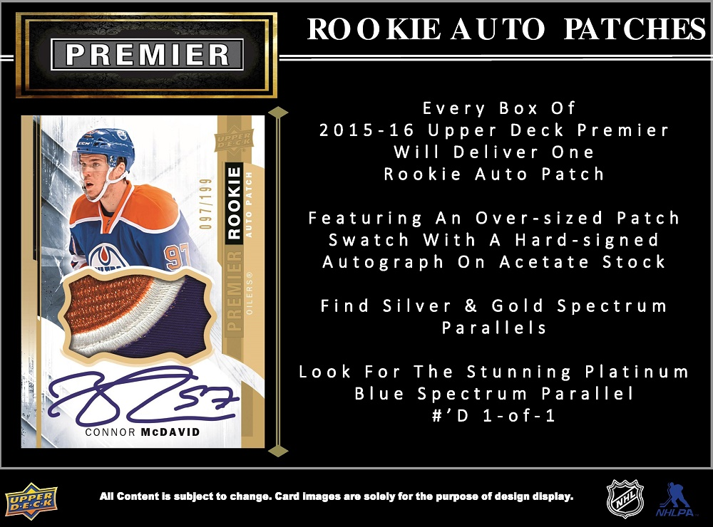 15-16 Upper Deck Premier Hockey Product Image Page 3