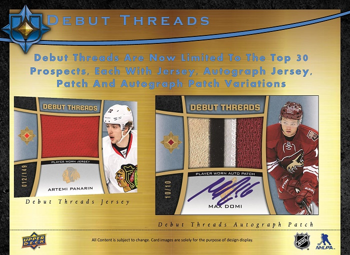15-16 Upper Deck Ultimate Hockey Product Image Page 5