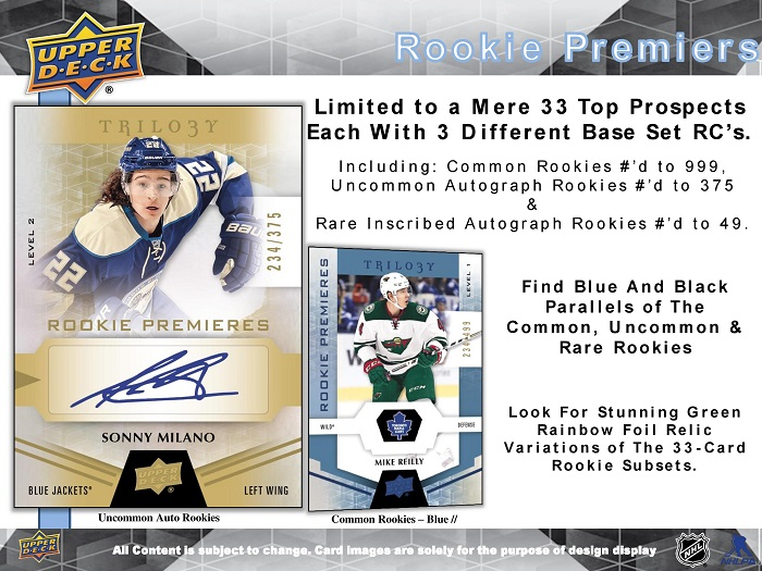 16-17 Upper Deck Trilogy Hockey Product Image Page 3