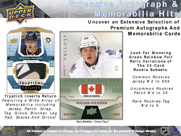 16-17 Upper Deck Trilogy Hockey Product Image Page 4