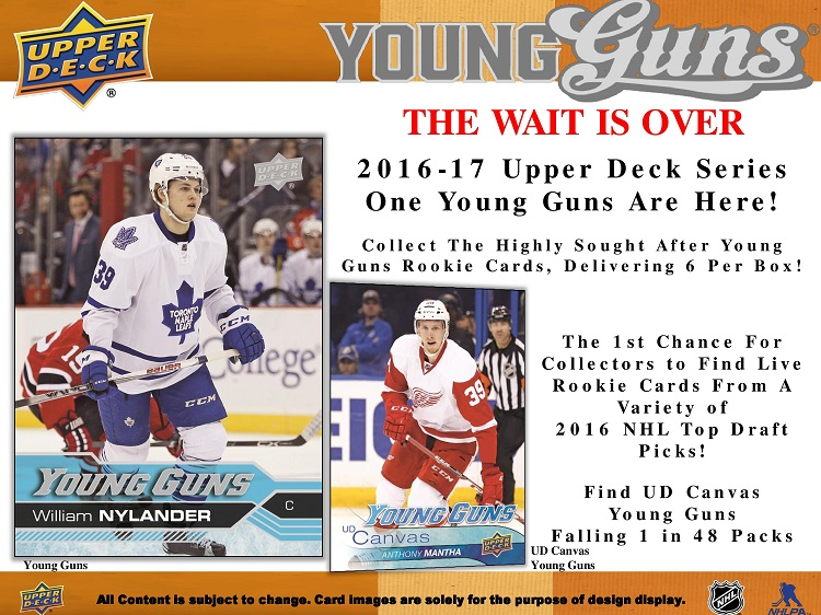 16-17 Upper Deck Series 1 Hockey Product Image Page 3