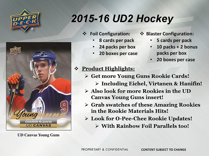 15-16 Upper Deck Series 2 Hockey Product Image Page 1