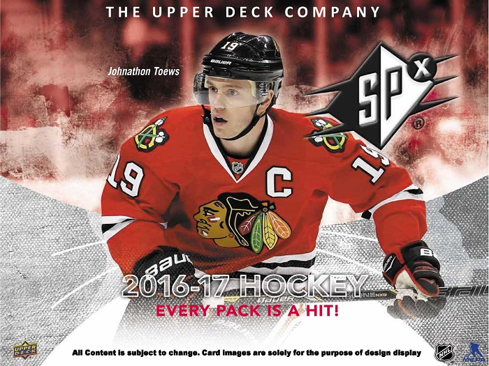 16-17 Upper Deck SPx Hockey Product Image Page 1
