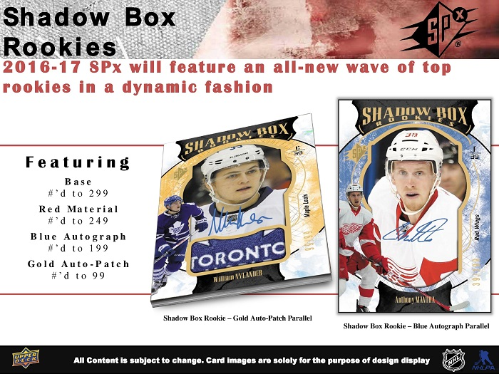 16-17 Upper Deck SPx Hockey Product Image Page 3