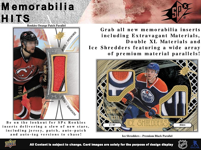 16-17 Upper Deck SPx Hockey Product Image Page 5