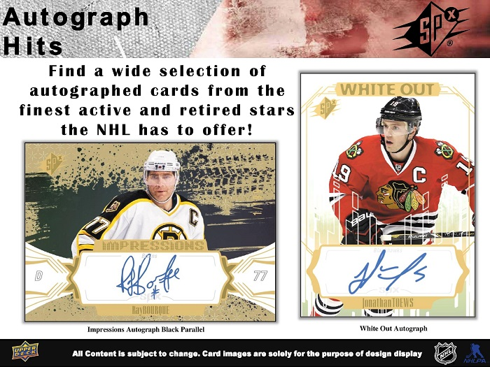 16-17 Upper Deck SPx Hockey Product Image Page 6