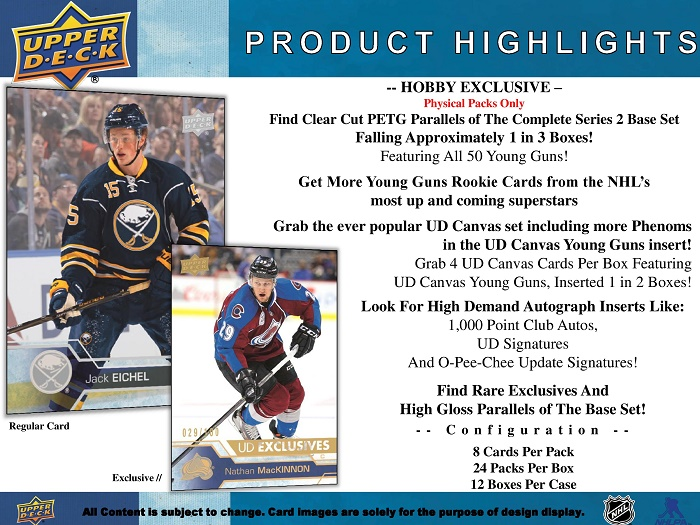 16-17 Upper Deck Series 2 Product Image Page 2