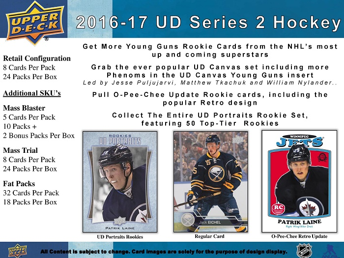 16-17 Upper Deck Series 2 Retail Product Image Page 1