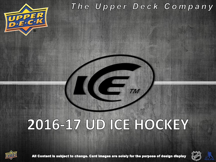 16-17 Upper Deck Ice Hockey Product Image Page 1