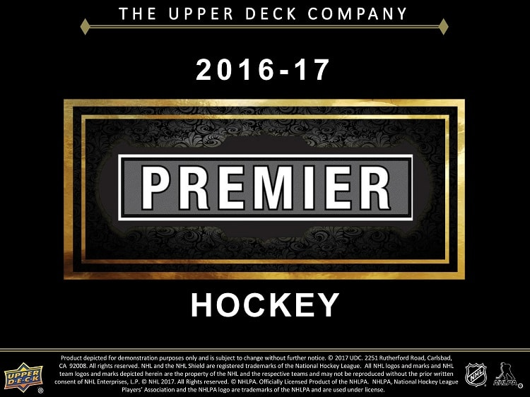 16-17 Upper Deck Premier Hockey Product Image Page 1