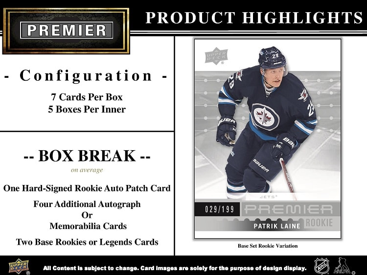 16-17 Upper Deck Premier Hockey Product Image Page 2
