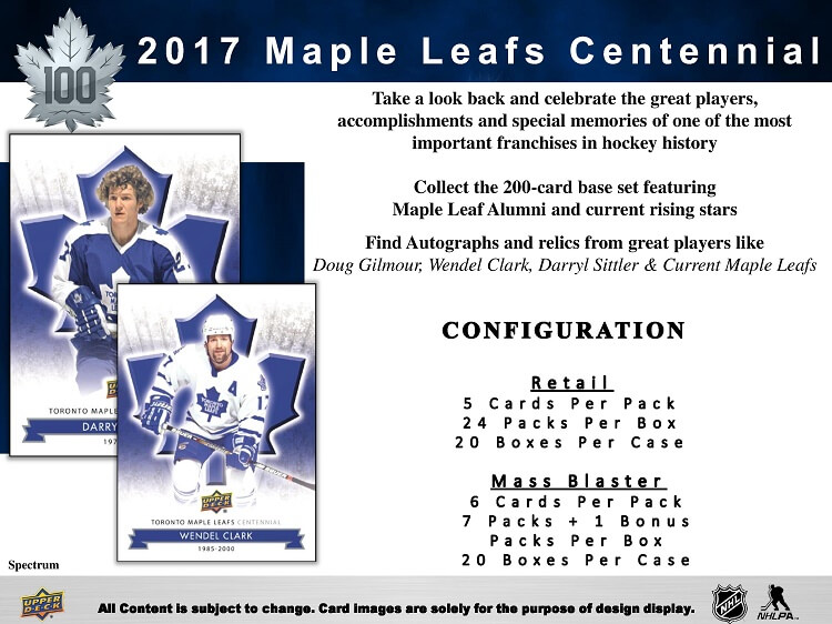 17-18 Upper Deck Toronto Maple Leafs Centennial Page 2