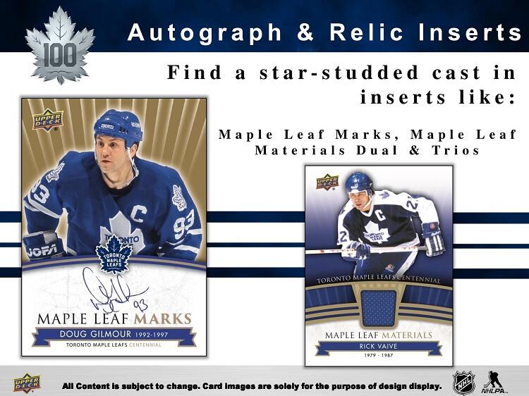 17-18 Upper Deck Toronto Maple Leafs Centennial Page 3