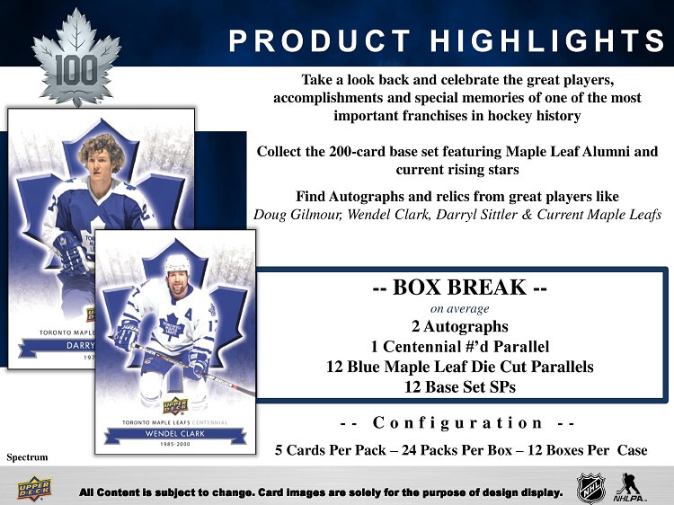 17-18 Upper Deck Centennial Hockey Product Image Page 2
