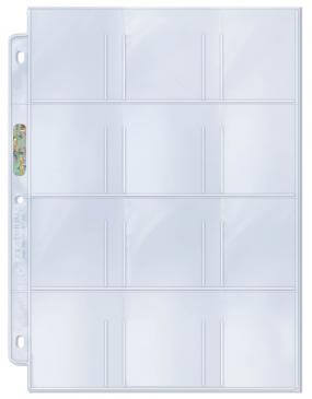 "Ultra Pro 12-Pocket Platinum Pages with 2-1/4"" X 2-1/2"" Pockets (100 Count Box)"