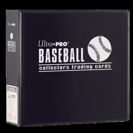 Ultra Pro 3-Ring 3 inch Black Baseball Collector Binder