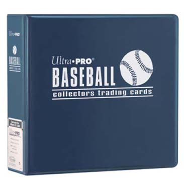 Ultra Pro 3-Ring 3 inch Blue Baseball Collector Binder