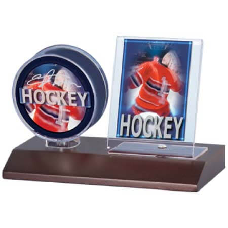 Ultra Pro Dark Wood Puck & Card Holder
