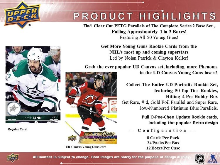 17-18 Upper Deck Series 1 Hockey Page 2