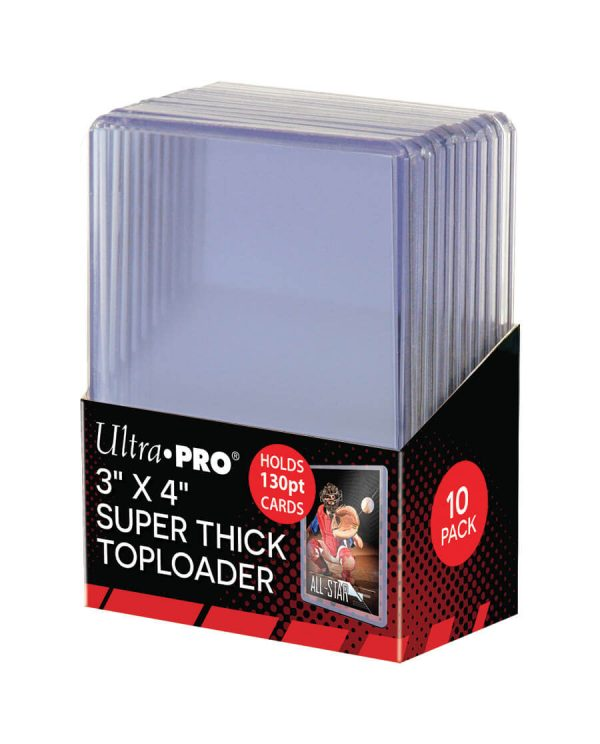 Ultra Pro Super Thick 130pt Toploader - Pack of 10
