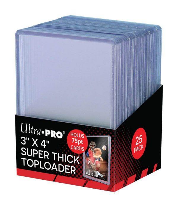 Ultra Pro Super Thick 75pt Toploader - Pack of 25