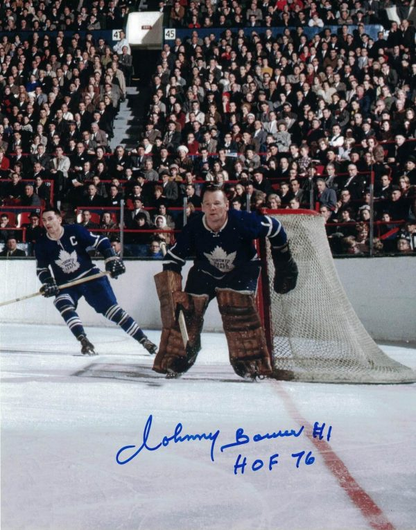 Johnny Bower Autographed Print