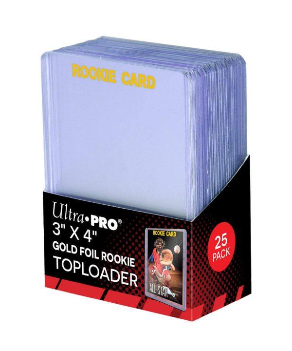 Ultra Pro Gold Foil Rookie Toploader - Pack of 25