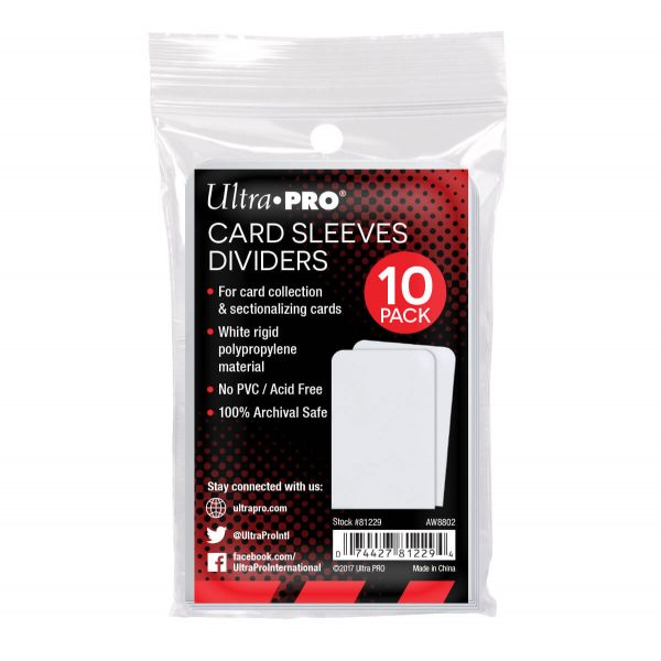 Ultra Pro Card Sleeves Dividers - Pack of 10